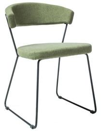 Стул для столовой Signal Meble Helix Black Green, 1 шт.