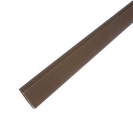 Plastikinės dailylentės pradžios ir pabaigos juosta B2, ruda, 300 cm