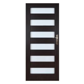 Vidaus durų varčia Everhouse Genua, wenge, kairinė, 84.4x203.5 cm