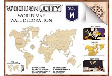 Wooden City Puzzle World Map M 31pcs