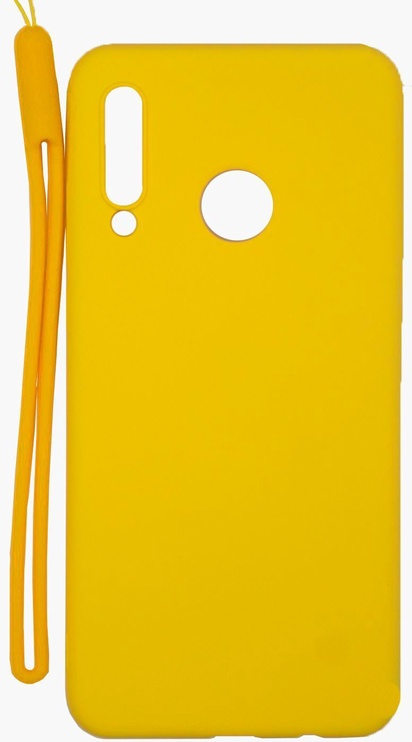 Evelatus Soft Touch Back Case With Strap For Huawei P30 Lite Yellow