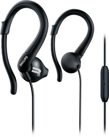Philips SHQ1255TBK ActionFit Sports Headphones Black