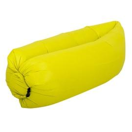 Täispuhutav madrats RoGer Air-Filled Pouf, kollane, 2300x700 mm