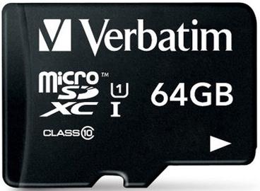 Verbatim 64GB Premium microSDXC U1 Class 10 + SD Adapter