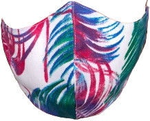TakeMe Profiled 1-Layer Reusable Face Mask Rainbow Feathers