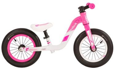 """Vaikiškas dviratis Scool PedeX1 12"""" Pink Grey"""