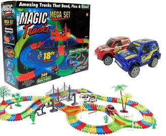 Žaislinė lenktynių trasa su šviečiančia mašinėle (360 det.) 128-8