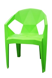 BESK Plastic Garden Chair 54x40x80cm Green