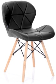 Valgomojo kėdė Homede Silla Eco Leather Black, 4 vnt.