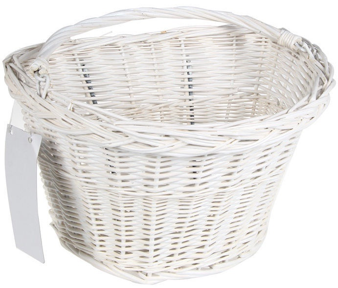 Good Bike Willow Bicycle Basket White