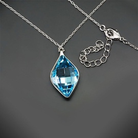 Diamond Sky Pendant Crystal Rhombus With Swarovski Crystals