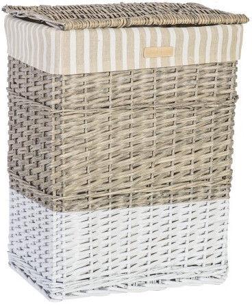 Home4you Basket Max 1 45x33xH59cm Beige/White