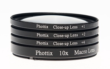 Phottix +1 / +2 / +4 / 10X Macro Close-Up Lens 72mm