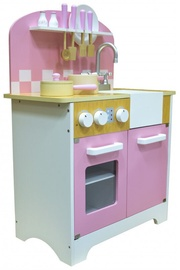 4IQ Daisy Beautiful Wooden Kitchen Pink/White