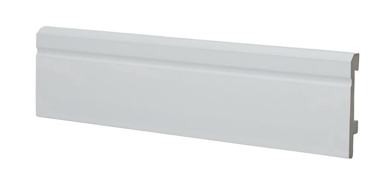 Dažomoji grindjuostė SI8000, 2500 x 80 x 16 mm