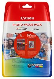 Кассета для принтера Canon 4540B017, черный/желтый/голубой/фуксия (magenta)