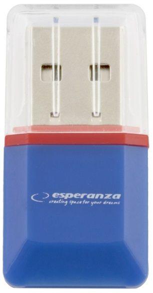 Esperanza EA134B MicroSD Card Reader USB 2.0 Blue