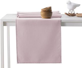 DecoKing Pure HMD Tablecloth PowderPink Set 115x300/35x300 2pcs