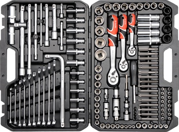 Yato YT-38875 Tool Set 1/4'' 1/2'' 3/8'' 128pcs