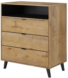 Halmar Nest KM-2 Chest Of Drawers Oak/Black