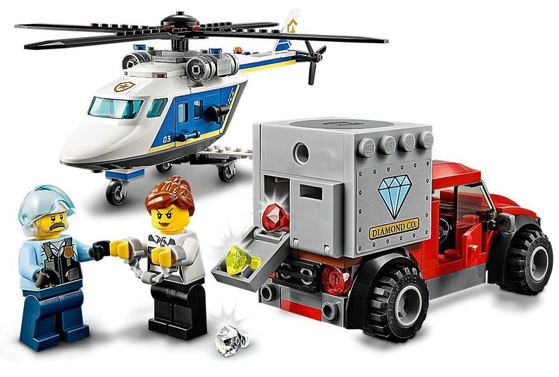 Konstruktor LEGO® City 60243 Tagaajamine politseikopteril