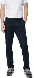 Audimas Tapered Fit Cotton Chino Pants Navy Blue 176/54