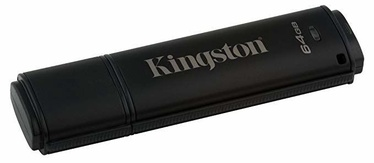 USB atmintinė Kingston Data Traveler Black, USB 2.0, 64 GB