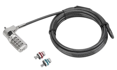 Klēpjdatoru slēdzene Targus Defcon 3-in-1 Resettable Combination Cable Lock