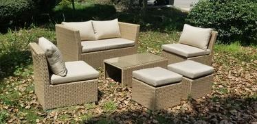 Комплект уличной мебели Domoletti SF1975, желтый/многоцветный, 1-6 места
