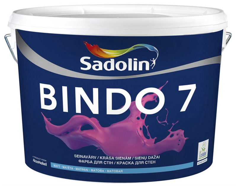 Krāsa Sadolin Bindo 7, 5 l, balta