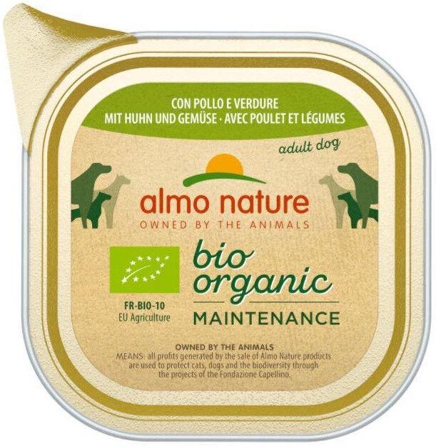 Влажный корм для собак (консервы) Almo Nature Bio Organic Maintenance Chicken & Vegetables 100g