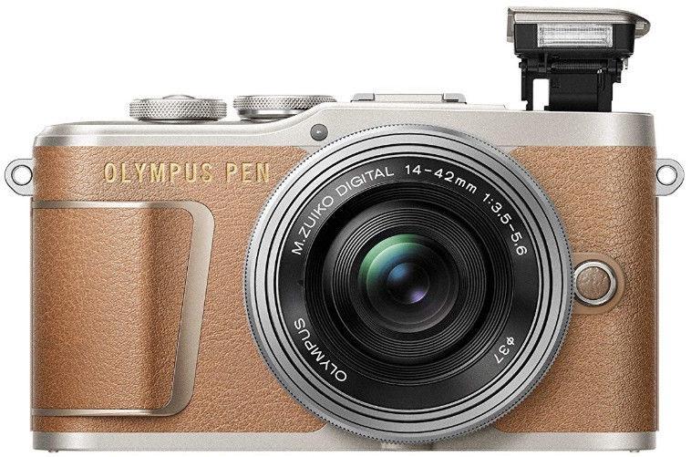 Olympus PEN E-PL9 Body Brown + EZ-M1442EZ Silver