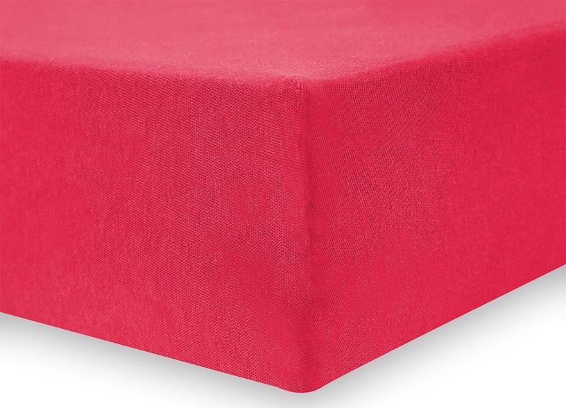 Palags DecoKing Amelia Red, 180x200 cm, ar gumiju