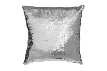 Spilvens 4living cushion, sudraba-balts, ar spīdumiem, 40X40 cm