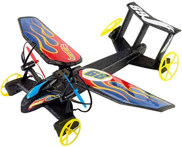 Mattel Hot Wheels RC Sky Shock Vehicle Flame Design DYD91