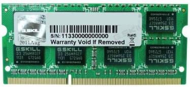 Operatīvā atmiņa (RAM) G.SKILL F3-10666CL9S-4GBSQ DDR3 (SO-DIMM) 4 GB