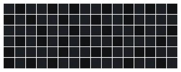 Keraminės dekoruotos sienų plytelės Bel Canto Black, 40 x 15 cm