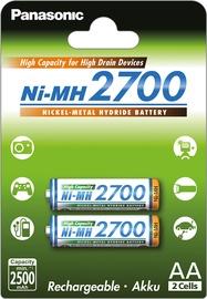Uzlādējamais elements Panasonic NiMh rechargeable battery 2 x AA 2700mAh