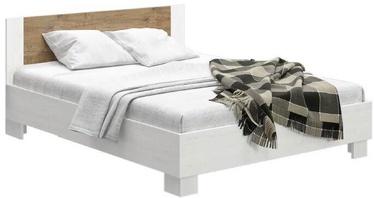 Кровать WIPMEB Markos, дубовый, 204x186 см, с решеткой