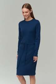 Audimas Merino Bamboo Blend Dress Blue XS