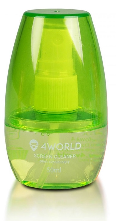 4World Cleaning Kit 50ml+Cloth Green
