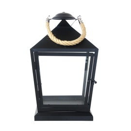 LATERNA LANTERN BLACK WITH ROPE S WL76