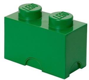 LEGO Storage Brick 2 Knobs Green
