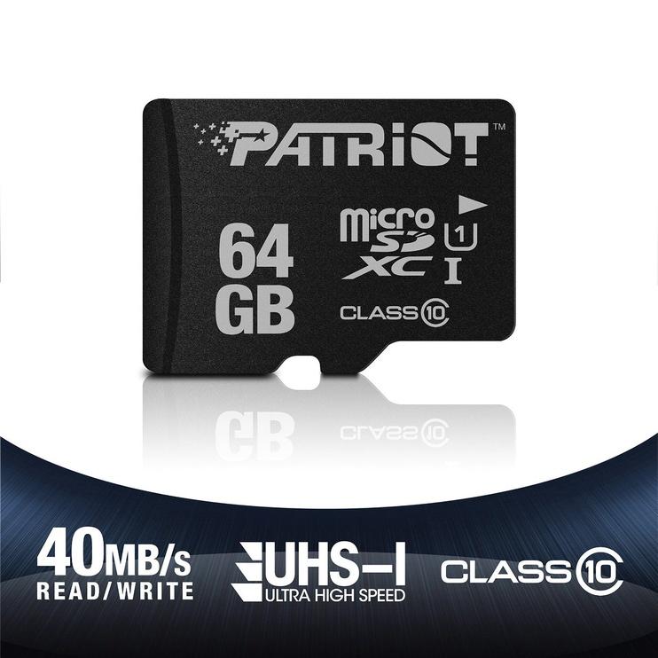 Patriot 64GB LX Series Micro SDXC Class 10
