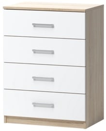 WIPMEB Tatris 01 Chest Of Drawers Sonoma Oak/White
