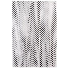 Vannas istabas aizkars Home Accents ZHY018-4, balta/melna, 1800 mm x 1800 mm