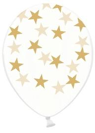 PartyDeco Воздушные шары со звездами, 30 см, 6 шт, прозрачные