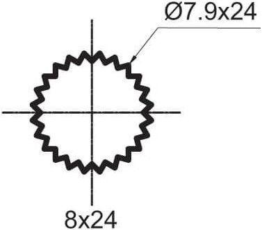 RUBINETA 1/2 Ceramic Cross 8x24 180 Valve