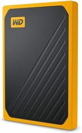 Жесткий диск Western Digital My Passport Go, SSD, 2 TB, черный/желтый