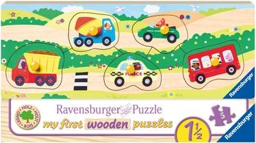 Medinė dėlionė Ravensburger My First Wooden Vehicles 032365